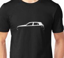 Silhouette Volkswagen VW Golf Mk4 White Unisex T-Shirt