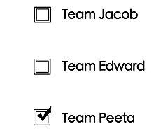 Team Peeta!  Photographic Print