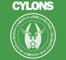 CYLONS (white - hi detail) Kids Clothes