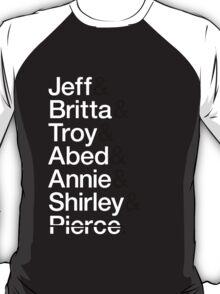 Community Character List T-Shirt