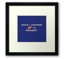 Frank for Prez Framed Print