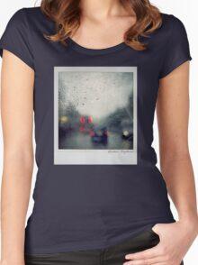 Rain Polaroïd Women's Fitted Scoop T-Shirt
