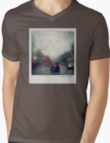 Rain Polaroïd Mens V-Neck T-Shirt