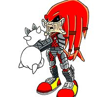 Knuckles the Predator by LittleRedHeidi