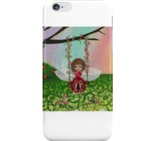 girl on a swing iPhone Case/Skin