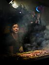 Satay Vendor - White Night by Rhoufi