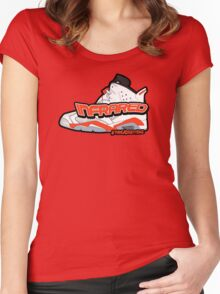 Infrared 6's White Women's Fitted Scoop T-Shirt