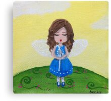 fairy in blue Canvas Print