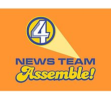 Channel 4 News Team Assemble! (ANCHORMAN) Photographic Print
