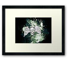 Grungy Skull Framed Print
