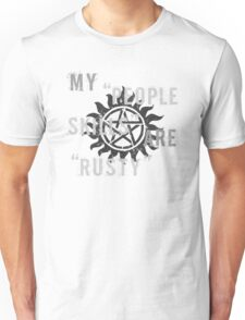 Supernatural Castiel 'People Skills' T-Shirt Unisex T-Shirt