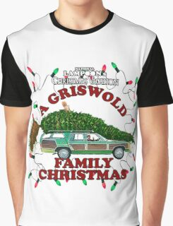 National Lampoon's Christmas Vacation Squirrel Christmas Tree Graphic T-Shirt