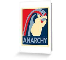 Bird Jesus: Anarchy Greeting Card
