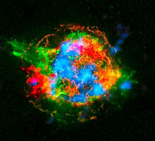 How Stars Die - Remains of Cassiopeia after a supernova explosion by Ram Vasudev