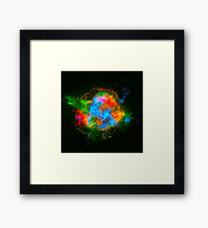 How Stars Die - Remains of Cassiopeia after a supernova explosion Framed Print
