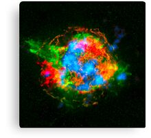 How Stars Die - Remains of Cassiopeia after a supernova explosion Canvas Print