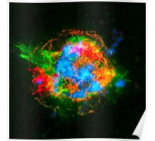 How Stars Die - Remains of Cassiopeia after a supernova explosion Poster