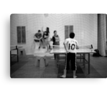 Table Tennis Canvas Print