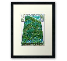Vertical Gardening - Vertical Garden Green Wall Biowall ecowall Living Wall Framed Print