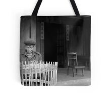 Man weaving baskets, Sapa, Vietnam Tote Bag