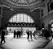 Flinders Street Station Interior, Melbourne, Victoria by paulsborrett