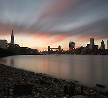 Sunset at Bermondsey Beach by Ursula Rodgers