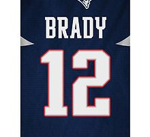 Tom Brady Jersey phone case by CJRDesign
