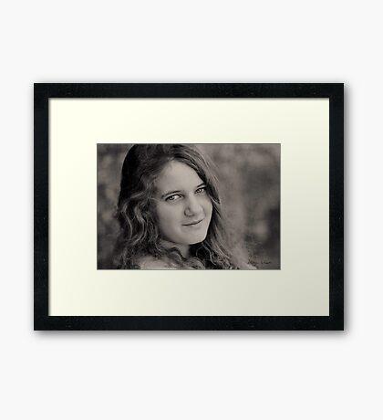 The Smile in Her Eyes Framed Print