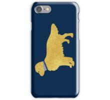Golden Retriever Preppy Silhouette iPhone Case/Skin