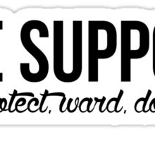 #the support Sticker