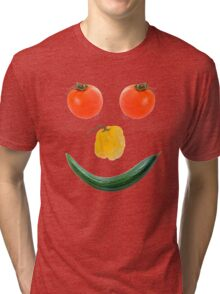 Smiley salad face Tri-blend T-Shirt