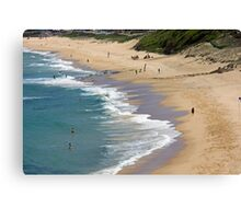The Cliff Beach - Newcastle Canvas Print
