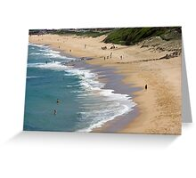 The Cliff Beach - Newcastle Greeting Card