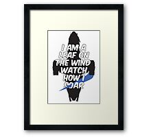 A Leaf on the Wind Framed Print