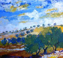 Beyond the hills of olive trees by Alessandro Andreuccetti