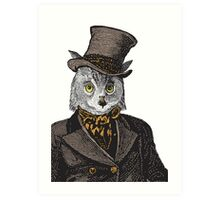 Owl Portrait | No.1 of 2 from The Owl and the Pussycat Set Art Print
