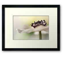 Gently touching the light... Framed Print