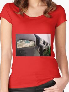car : Reflection of life before! ... 1974 collector 5  (c)(t) by Olao-Olavia / Okaio Créations Women's Fitted Scoop T-Shirt