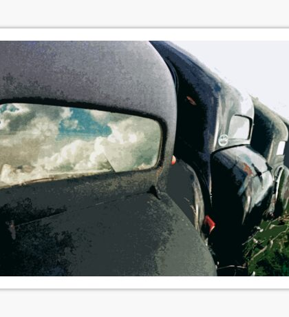 car : Reflection of life before! ... 1974 collector 5  (c)(t) by Olao-Olavia / Okaio Créations Sticker