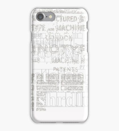 Goodbye etaoin shrdlu iPhone Case/Skin