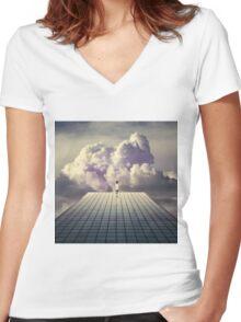 Breaker daydreams Women's Fitted V-Neck T-Shirt