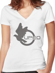 UPEO Logo Women's Fitted V-Neck T-Shirt