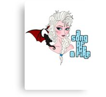 Elsa & Daenerys Mashup  Canvas Print