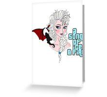 Elsa & Daenerys Mashup  Greeting Card