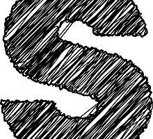 Sketchy Letter Series - Letter S by JHMimaging