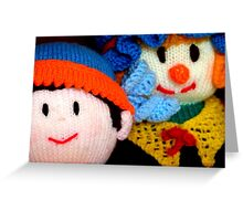 Knitted Dolls Fun 3 Greeting Card