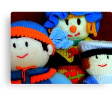 Knitted Dolls Fun 4 Canvas Print
