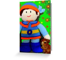 Knitted Dolls Fun 5 Greeting Card