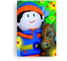 Knitted Dolls Fun 7 Canvas Print