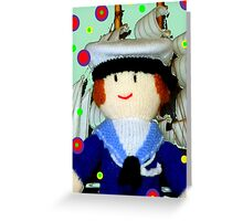 Knitted Dolls Fun 8 Greeting Card